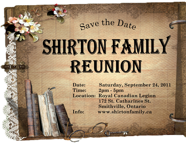 shirton family reunion invitation